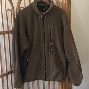 Pantagonia brown zip up fleece